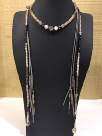 Collier long style indien AXELLE