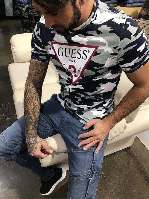 T-shirt camo Guess