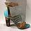 Thumbnail: Sandale turquoise et brune à 2 lanières Only