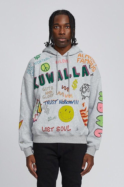 Cagoule streewear grise chinée Kuwalla Tee