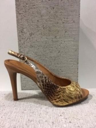 Sandale croco or et argent Only