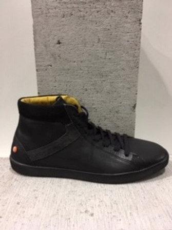 Chaussure noire en cuir SOFTINOS