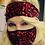 Thumbnail: Masque noir  à paillettes rouges