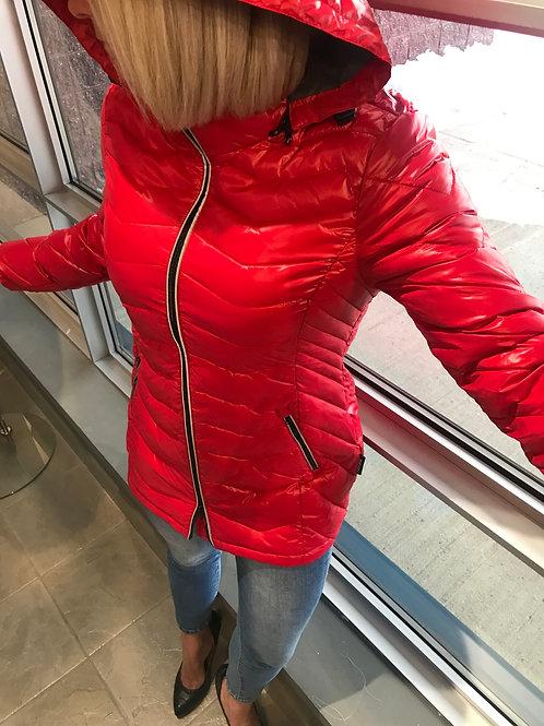 Manteau rouge matelassé Noize