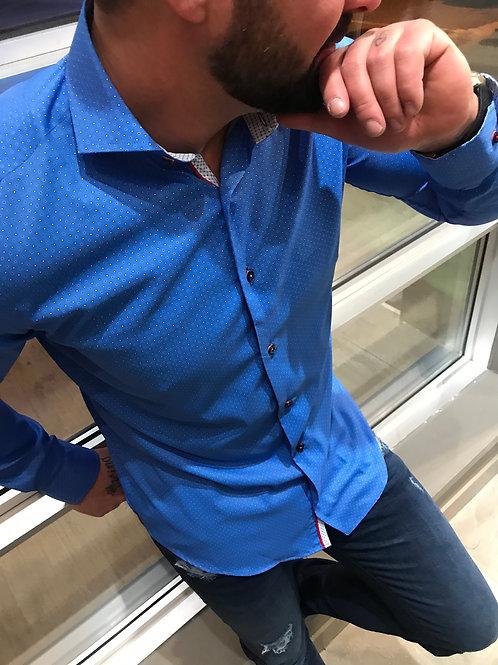 Chemise bleue à poids Distrikt
