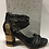 Thumbnail: Sandale noire effrangée Laura Vita