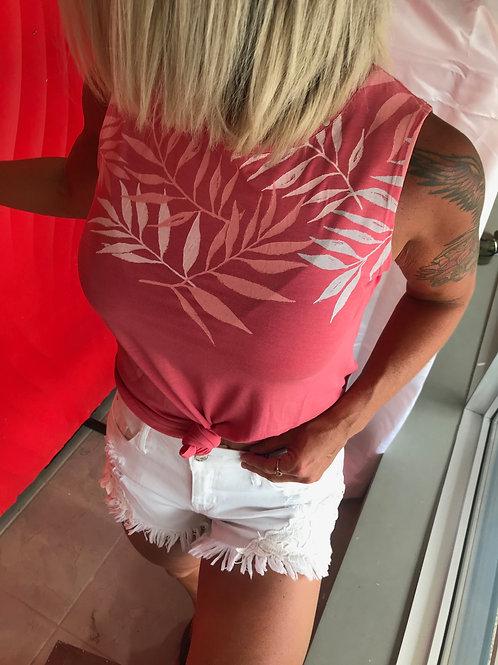Camisole rose à feuilles de palmier Ragwear