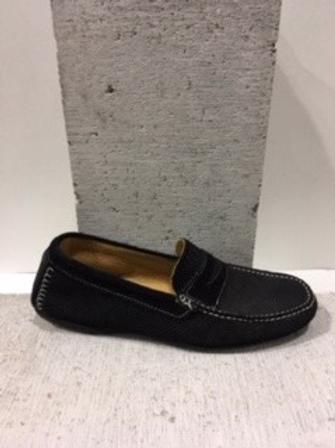 Chaussure noire en suède INTERLAND