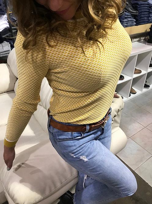 Haut à manches longues jaune Esprit