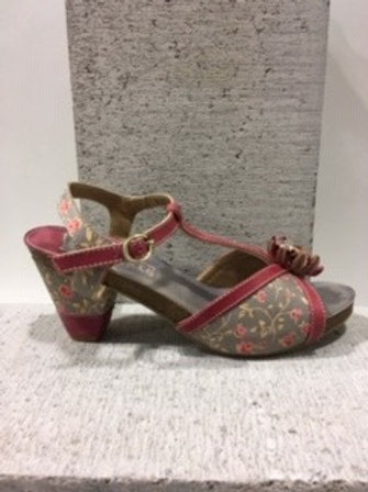 Sandale fleurie grise et rose L'ARTISTE