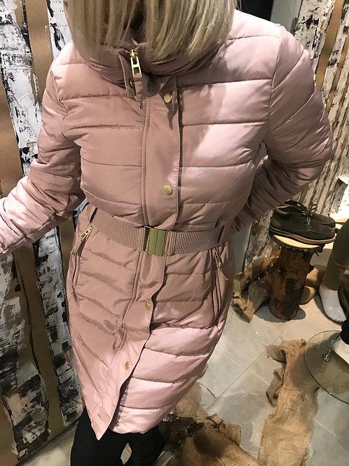 Manteau matelassé rose poudre Esprit