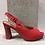 Thumbnail: Sandale rouge en cuir vernis Piccadilly