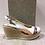 Thumbnail: Sandale blanche bande fleurie  MARILA