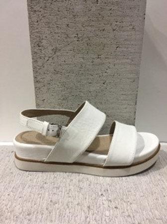 Sandale sport blanche semelle plateforme Boussola