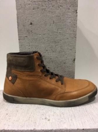 Chaussure tan en cuir SOFTINOS