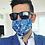 Thumbnail: Masque bleu à motif paisley Au Noir