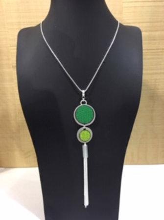 Collier long vert AXELLE