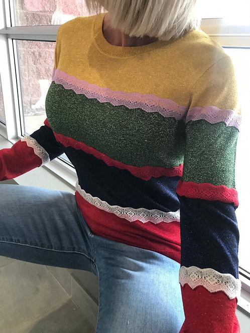 Pull Desigual coloré à pailettes