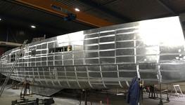 Aluminium hull