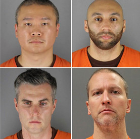 Derek Chauvin, J. Alexander Kueng,Thomas K. Lane,Tou Thao : Kneeled on George Floyd's neck for 8 minutes and 46 seconds, killing him after a call alleging he was trying to pay with a fake $20 bill.