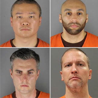 Derek Chauvin, J. Alexander Kueng, Thomas K. Lane, Tou Thao : Kneeled on George Floyd's neck for 8 minutes and 46 seconds, killing him after a call alleging he was trying to pay with a fake $20 bill.