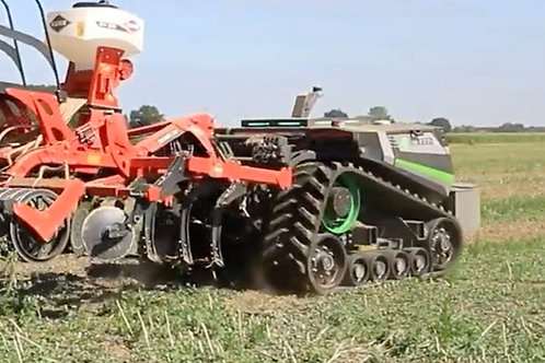 AgXeed robot turning around with tillage tool