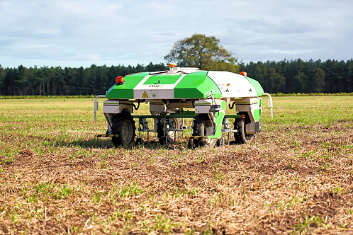Naïo Dino at a farm field where also other agriculture robots did operate before