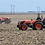 Autonomous robot tractor created by Sabanto operating on the harvested field