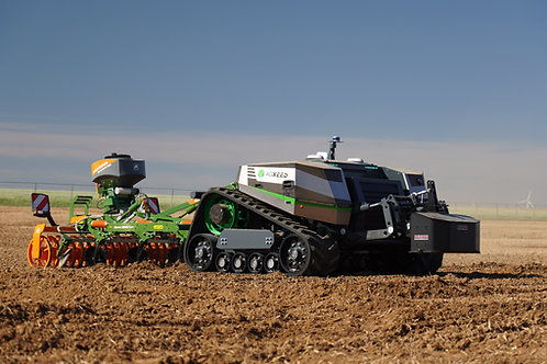 Agbot from Agxeed working on the field during the Innov-Agri event in France