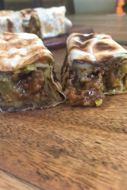 Burrito de Porco ao molho Barbecue
