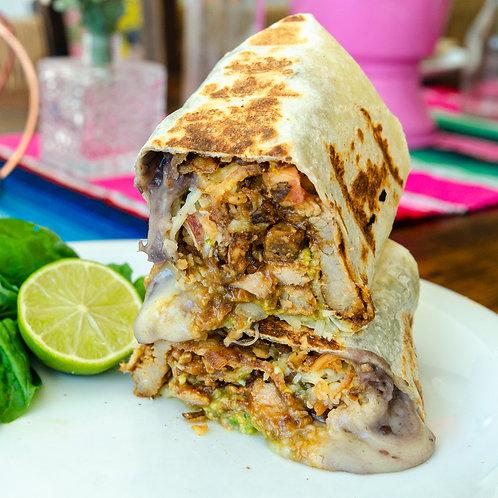 Burrito de Porco ao molho Barbecue Almoço
