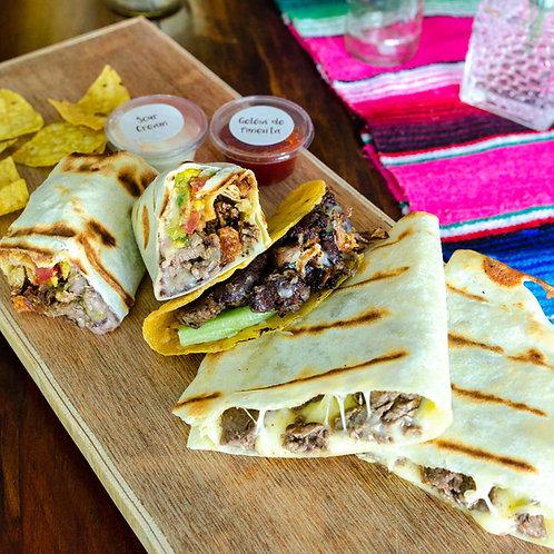 Trio filé - Taco + Burrito + Quesadilla