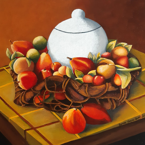 White Bowl Surrounded by Fruits