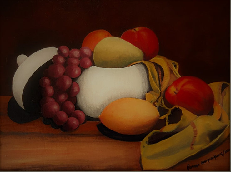 White Bowl and fruits
