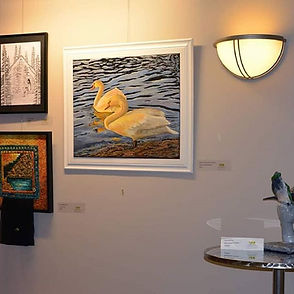 Swans under the sun. Oshawa Shore Exhibi