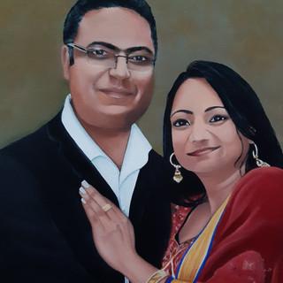 Satinder's sister and Husband