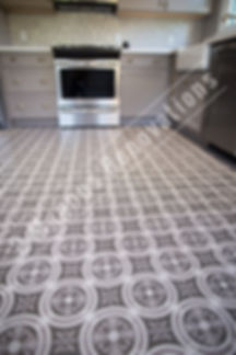 Cabinets, laminate wood floors