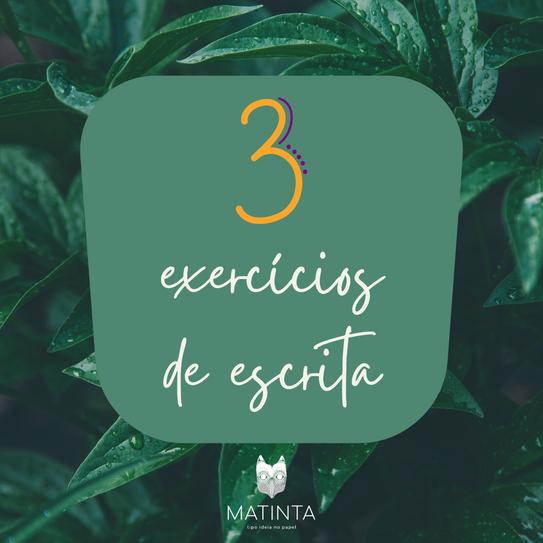 3 exercícios de escrita criativa
