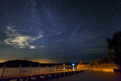 Dark skies over Llangorse Lake