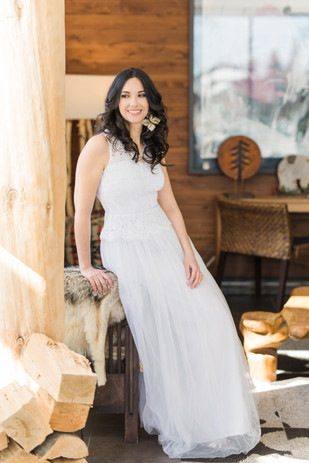Wedding dress & earings