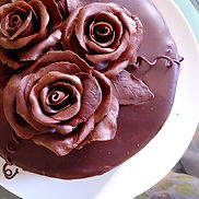 So here's the finsihed chocolate rose ca