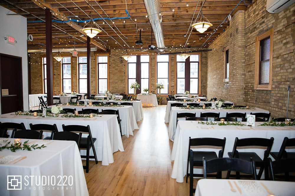 DayBlock Event Center Wedding Reception with Long tables