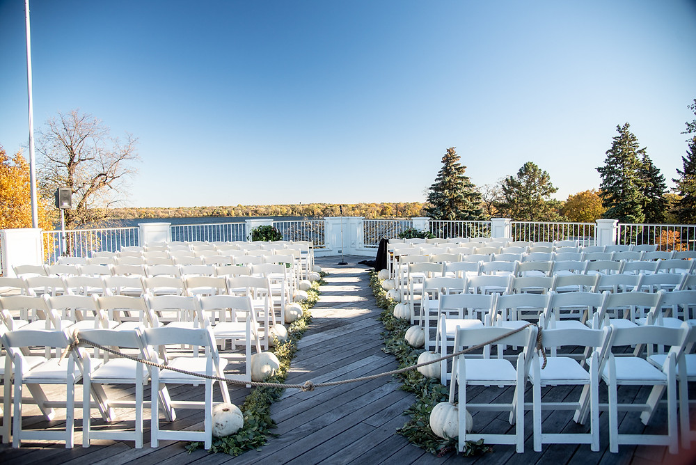 Minikahda Club rooftop wedding ceremony