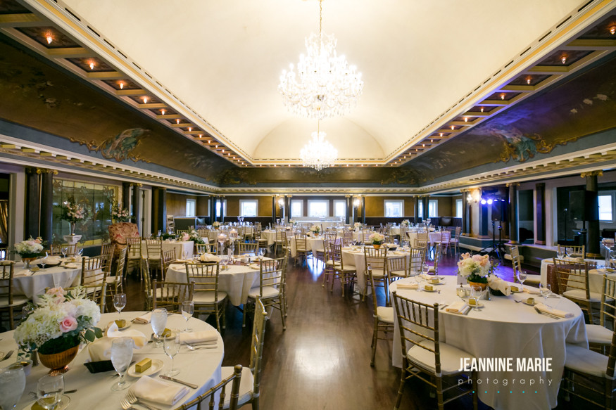 Semple Mansion wedding reception ballroom