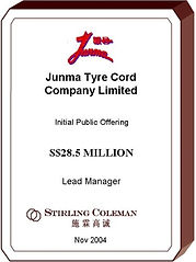 20041100 Junma Tyre Cord Company Limited
