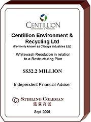 20060900 Centillion Environment & Recycl