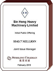 20100200 Sin Heng Heavy Machinery Limite