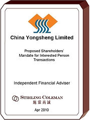 20100400 China Yongsheng Limited.jpg