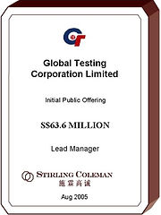 20050800 Global Testing Corporation Limi