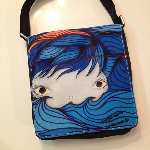 Blu Wave Miami Graffiti Messenger Bag
